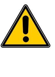 dark yellow caution sign