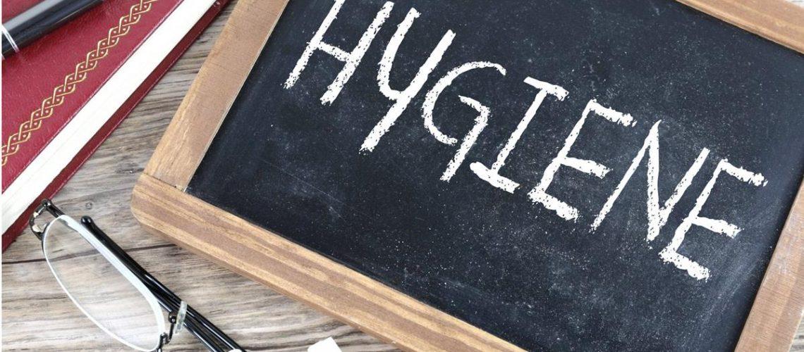 hygiene chalkboard