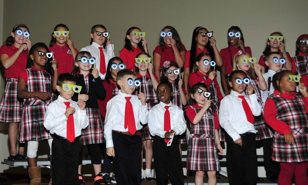 south-choir-paper-glasses